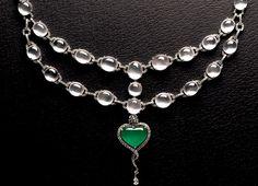 Imperial green and icy jadeite jade necklace. Jade Necklace, Brass Necklace, Jade Jewelry, Diamond Jewelry, Jade Stone, Jewelry Branding, Bling, Jewellery, Gemstones