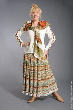 Купить Авторская вязаная юбка 463а - белый, юбка, юбка в пол, юбка длинная