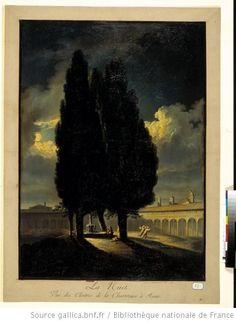 La Nuit. Vue des Cloîtres de la Chartreuse à Rome : [estampe] / [Fidanza] ; Piranesi 1802