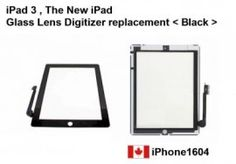Apple iPad3, The New iPad Touch Screen Glass Lens Digitizer Black Color Canada    Price = $85.50