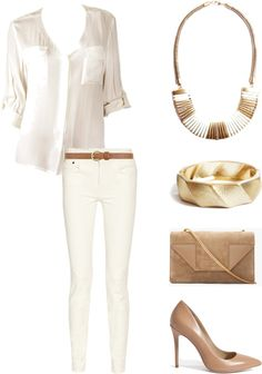 """""""Neutral Territory"""" by lydellnycjewelry ❤ liked on Polyvore"""