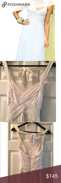 BCBGMAXAZARIA WHITE LONG DRESS XXS Stunning white dress! Only worn once. It is so beautiful and the fit is so flattering BCBGMaxAzria Dresses Prom