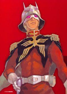 シャア大佐 安彦良和 | Zion Space Forces Colonel Char Aznable by Yoshikazu Yasuhiko: #Anime #AnimeGuy #AnimeArt #Illustration #GUNDAM #Char_Aznable