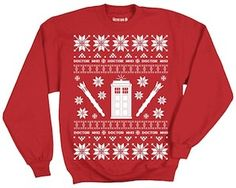 I need a Chrismas sweater.  Doctor Who Red Christmas Sweater