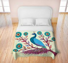 Peacock bed cover ♡ I won't going anywhere