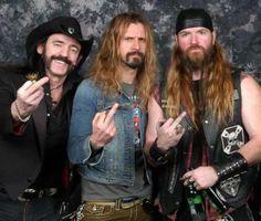 lemmy kilmister girlfriend black | Lemmy Kilmister ( Motörhead ) , Rob Zombie et Zakk Wylde ( Black ...
