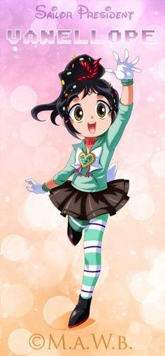 Disney Heroines Re-Imagined As Sailor Moon Characters