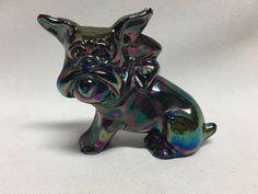 Imperial Carnival Glass Bulldog Figurine #2