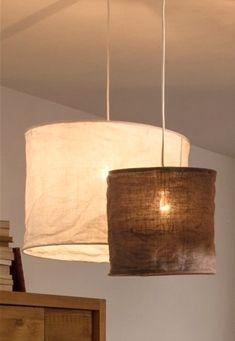 Linen lamps from La redoute