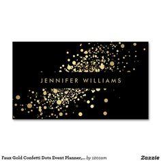 Faux Gold Confetti Dots Event Planner, Stylist