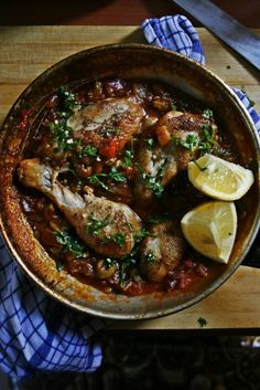 Notions & Notations of a Novice Cook • Making Moroccan Chicken with Eggplant Ragout