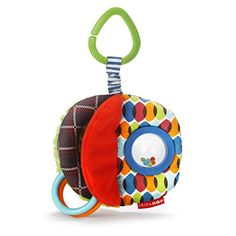 #baby Tug, teethe, #rattle and go. This colorful toy is sized perfectly for little hands and easy to hang anywhere. #With a multitude of developmental features, l...