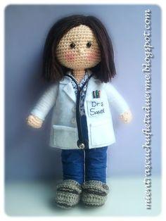 UNA DOCTORA A CROCHET. Crochet doctor.