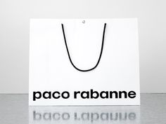 Brand identity and shopping bags for French fashion label Paco Rabanne by Zak Group, United Kingdom