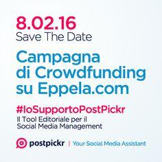 Il conto alla rovescia è ufficialmente iniziato! More info —> http://bit.ly/20hJfSy #IoSupportoPostPickr #Crowdfunding #Eppela