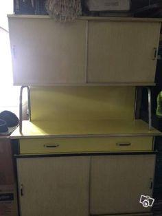 ensemble cuisine formica jaune anne 60 ameublement yvelines leboncoinfr - Formica Cuisine
