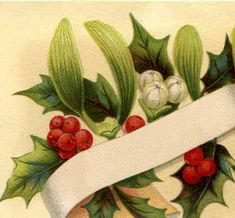 Gorgeous Christmas Holly Label!