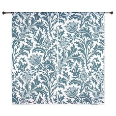 "William Morris Thistle Pattern Blue W 60"" Curtains on CafePress.com"