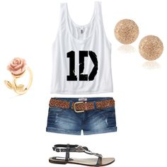 """1D concert"" by fasionista-melissa on Polyvore"