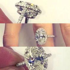 Exactly the ring I want. Nothing else. Sorry husband lol Lauren b jewelry 3 carat oval diamond in a extra elegant custom micropave halo setting design. Well it doesn't have to be 3 carats lol but look like this