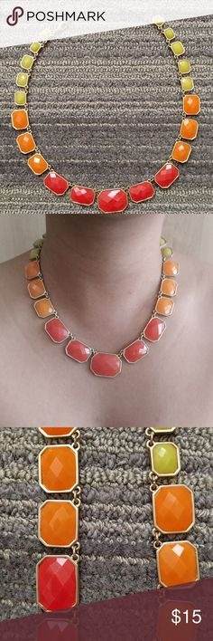 Price drop - Fun summer necklace Brighten up a neutural palette with some pop of colors (red, orange and yellow with gold accent). Necklace is adjustable (picture shown in middle position/ length). Jewelry Necklaces