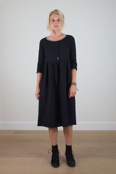 Black winter day dress