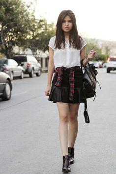 High Street Layered-look Mini Skirt [FMCC0148] - PersunMall.com