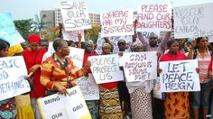 Women march through Abuja to demand the release of  of more than 200 schoolgirls abducted by militants (30 April 2014)