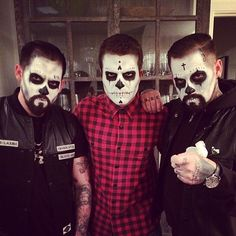 Pin for Later: Look Back at the Best Celebrity Halloween Candids  David Katzenberg snapped a spooky picture with Joel Madden and Benji Madden. Source: Instagram user davidkatzenberg
