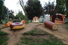"""Parque Francesc Macià, """"Parc del castell"""" Malgrat de mar Mexico Travel, Travel Photos, Barcelona, World, Places To Go, Zip Lining, Pool Slides, Trevi Fountain, Spain Tourism"""