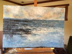 """24x36"""" Abstract seascape for prominent Swedish Hospital Seattle, permanent art collection"""