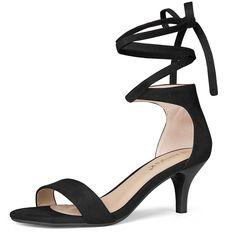 80875806755 Women s Kitten Heel Lace Up Sandals - Black - C5180KYZZW9. Kitten Heel  ShoesPeep Toe ...