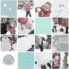 Project Life Digital Layout. Snow Time!