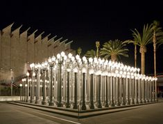 Urban Light / Chris Burden / 2008 / (Two-hundred and two) restored cast iron antique street lamps / LACMA