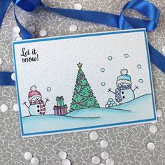 Card created using For the Love of Stamps by Hunkydory Crafts Snowy Snow Globe Stamp Set