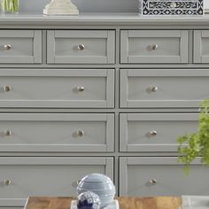 Complete your master suite or guest room with this classic dresser, featuring a Mission-inspired design and 8 drawers.