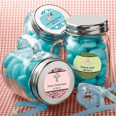 Personalized Baby Glass Mason Jar Favors!