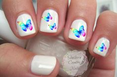 Papillons Nail Art Stickers par SouthernCountryNails sur Etsy