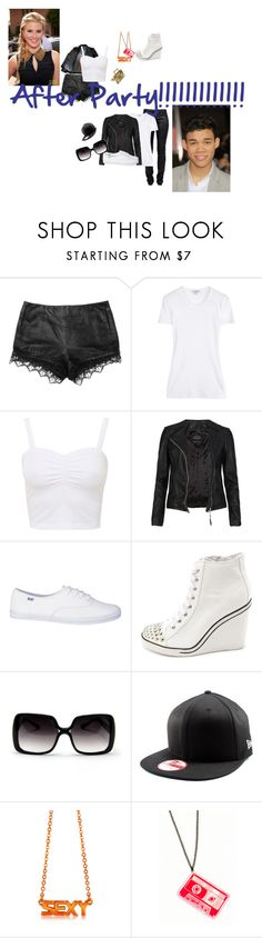 """""""Shake it up:After Party"""" by glee2shake ❤ liked on Polyvore featuring rag & bone, J Brand, James Perse, AllSaints, Keds, Charlotte Russe and Patrizia Pepe"""