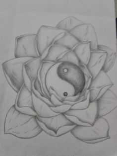 R3DWALL ART: LOTUS FLOWER/YIN YANG TATTOO DESIGN
