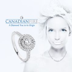 """""""Every Canadian Fire diamond is mined and polished to the highest standards uncovering its rare beauty and brilliance. Each diamond comes with a Certificate of Origin confirming that it was mined in Canada's Arctic North"""" 