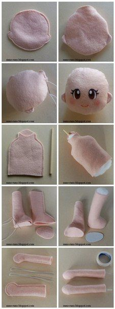 KUFER with artistic handicrafts: Rags - patterns Doll Crafts, Diy Doll, Sock Dolls, Baby Dolls, Doll Clothes Patterns, Doll Patterns, Felt Baby, Doll Tutorial, Sewing Dolls