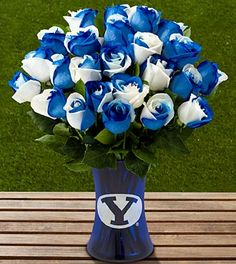 The FTD® Brigham Young University® Cougars™ Rose Bouquet - 24 Stems - VASE INCLUDED