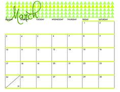 just dawnelle: MARCH 2013 PRINTABLE CALENDAR