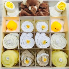 Super Deluxe Neutral Cupcake Gift Set - 0-3, 3-6 or 6-12 months