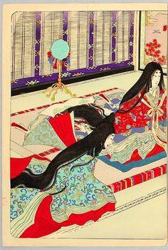Lady Murasaki, ca. 1890 by Adachi Ginko