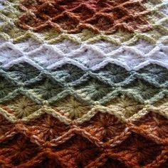Bavarian Crochet or Wool Eater Crochet Patterns. This is a great, versatile stitch for everything from pot holders to afghans.