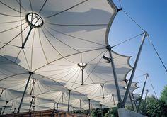 Amt für Abfallwirtschaft in München, Ackermann und Partner Membrane Structure, Roof Structure, Shade Structure, Steel Structure, Santiago Calatrava, Parametric Architecture, Architecture Design, Zaha Hadid, Munich