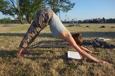 Image result for reading in yoga positions