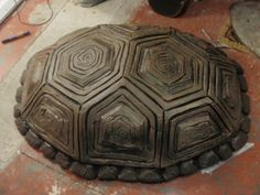 Very detailed  ninja turtle costume using  carved upholstery foam and molds.